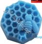 форма Пчела на сотах силиконовая