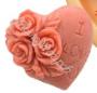 форма Сердечко с букетом роз силиконовая