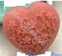 форма Сердечко с цветочным узором силиконовая
