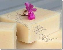 Мыло с маслом камелии и кокосовым молоком