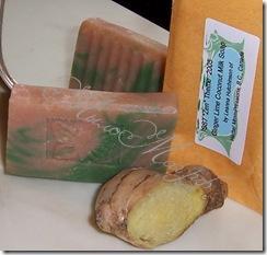 Мыло с имбирем и лаймом и кокосовым молоком